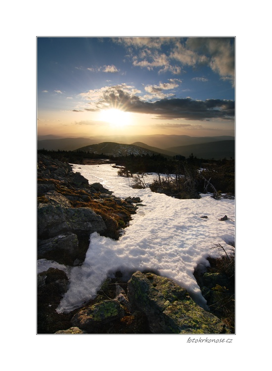 Západ slunce nad Lysou horou